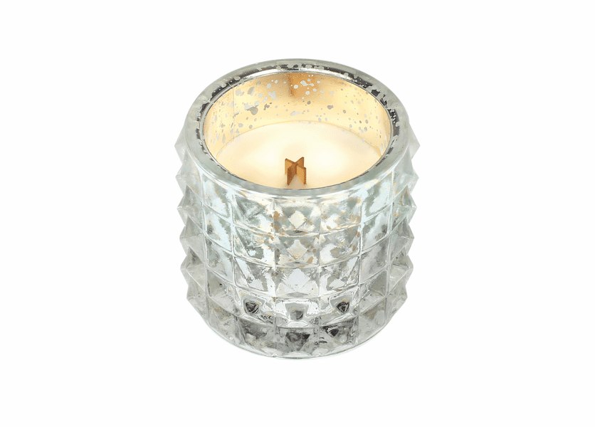 _DISCONTINUED - *Oatmeal Cookie Mercury Studded Glass WoodWick Candle
