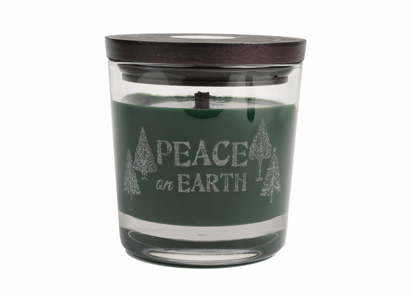_DISCONTINUED - *Peace On Earth WoodWick Laser Etched Medium Candle