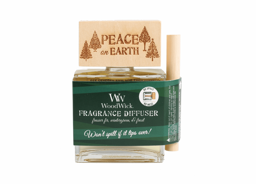 _DISCONTINUED - *Peace On Earth WoodWick Laser Etched Spill-Proof Diffuser