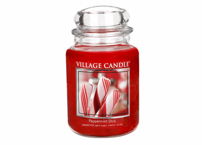 _DISCONTINUED - *Peppermint Stick 26 oz. Premium Round by Village Candles