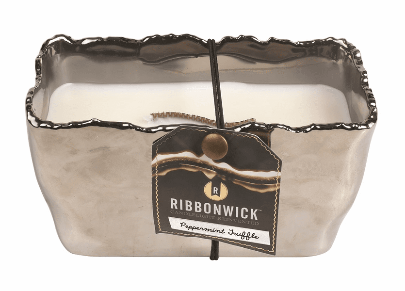 _DISCONTINUED - *Peppermint Truffle Rectangle Premium RibbonWick Candle