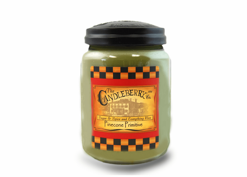 _DISCONTINUED - *Pinecone Primitive 26 oz. Large Jar Candleberry Candle