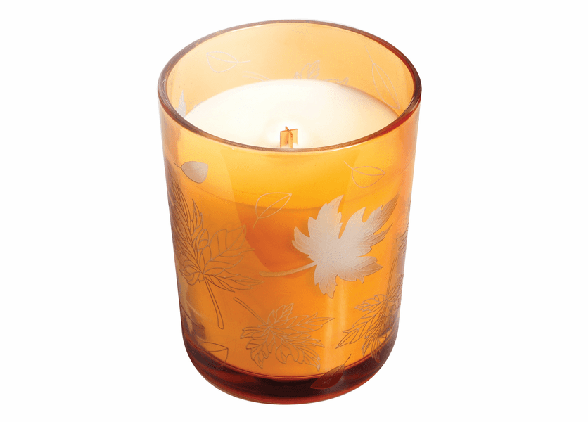 _DISCONTINUED - *Pumpkin Butter Etched Glass Tumbler WoodWick Candle