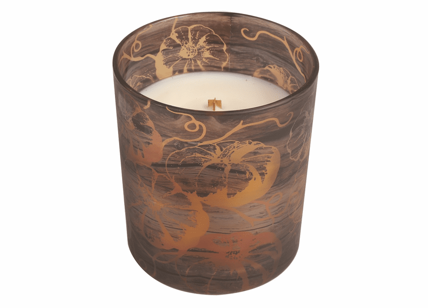 _DISCONTINUED - *Pumpkin Butter Pumpkin Decal Glass WoodWick Candle