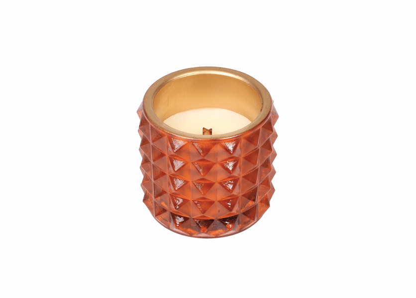 _DISCONTINUED - *Pumpkin Butter Studded Glass WoodWick Candle