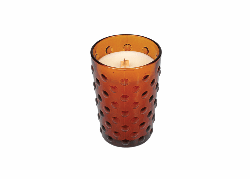 _DISCONTINUED - *Pumpkin Butter Vintage Hobnail Glass WoodWick Candle