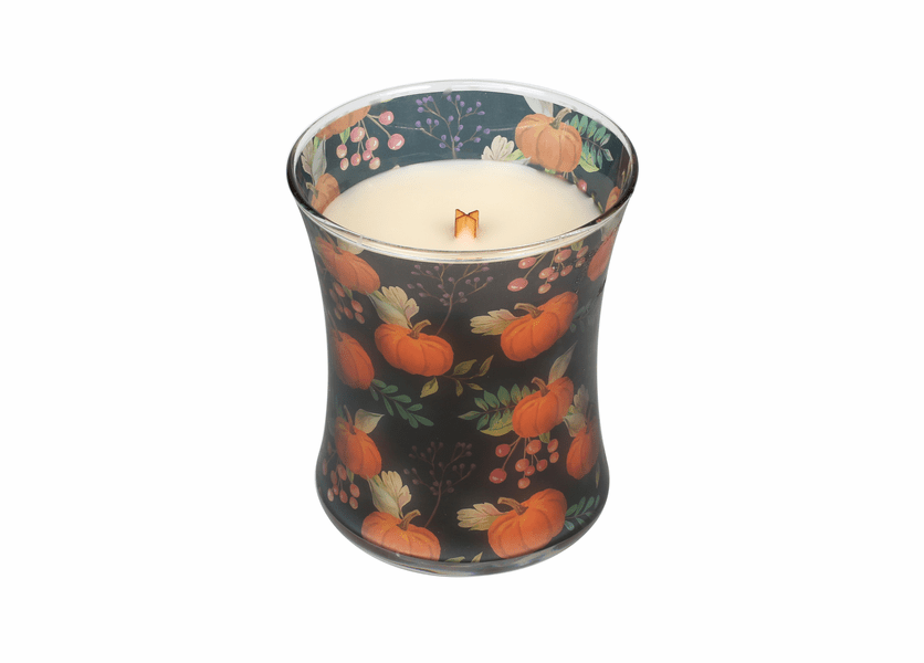 _DISCONTINUED - *Pumpkin Muffins Fall Comforts Hourglass WoodWick Candle