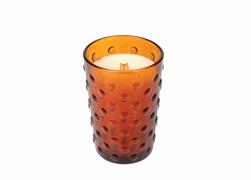 _DISCONTINUED - *Pumpkin Muffins Vintage Hobnail Glass WoodWick Candle