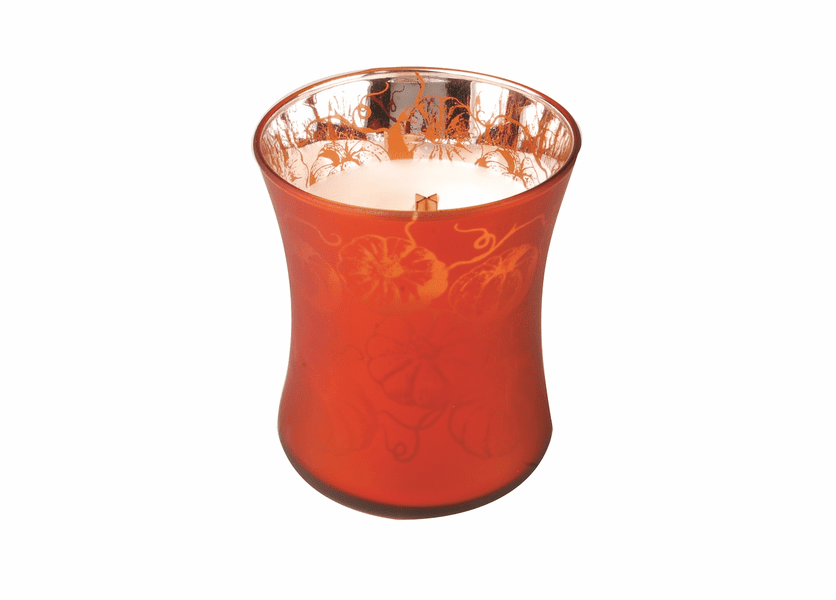 _DISCONTINUED - *Pumpkin Strudel Medium WoodWick Dancing Glass Candle