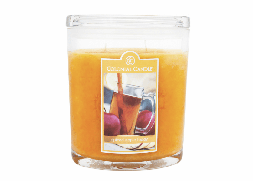 _DISCONTINUED_Spiced Apple Toddy 22 oz. Oval Jar Colonial Candle