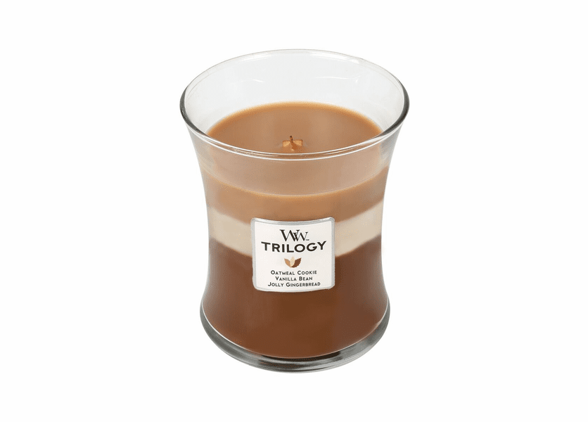 _DISCONTINUED - *Spiced Confections WoodWick Trilogy Candle 10 oz.