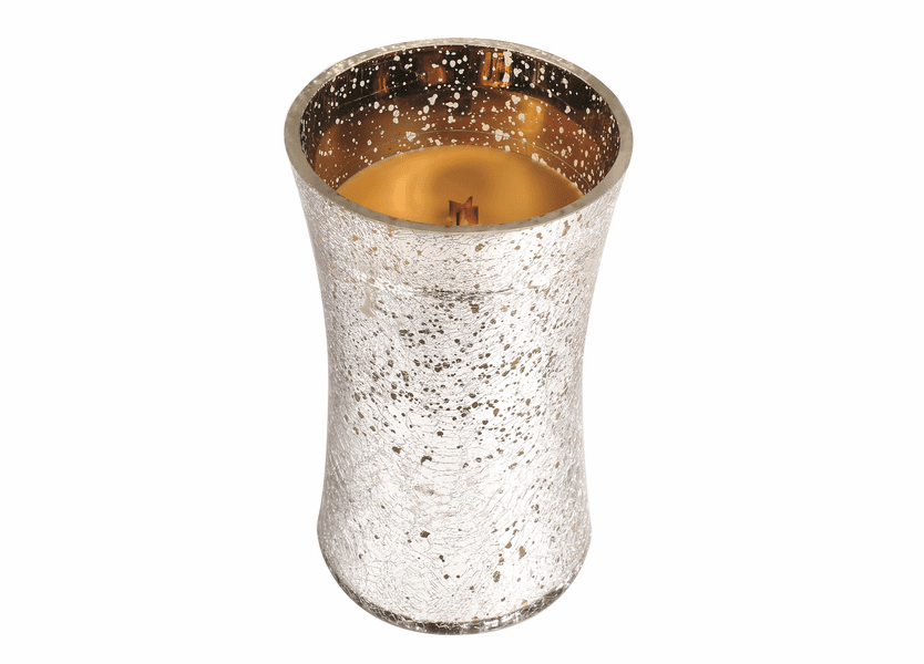 _DISCONTINUED - *Spiced Eggnog Large Holiday Crackle Metallic WoodWick Candle