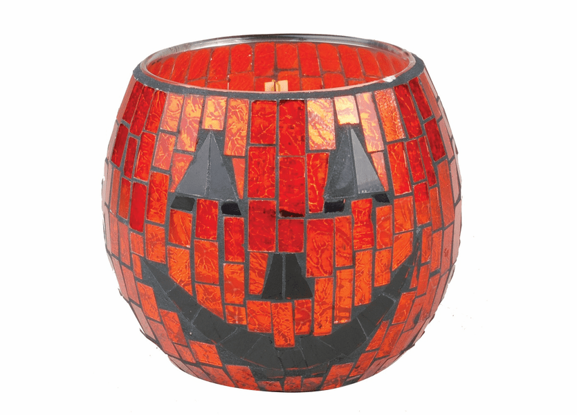 _DISCONTINUED - *Spooky Pumpkin Halloween Mosaic WoodWick Candle
