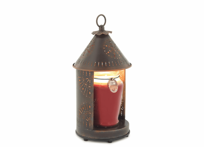 _DISCONTINUED - Sunshine - Primitive Tin Punched Candle Warmer Lantern