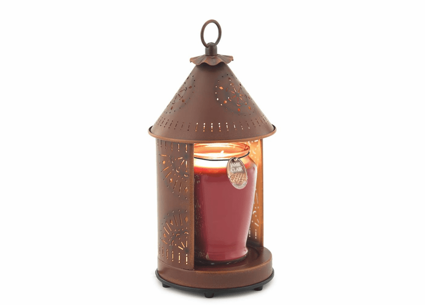 _DISCONTINUED - Sunshine - Rustic Tin Punched Candle Warmer Lantern