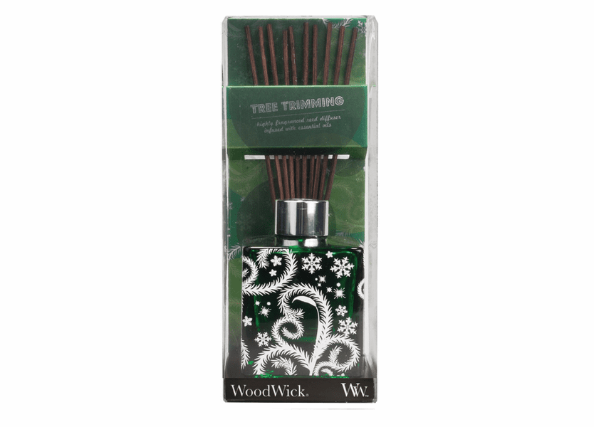 _DISCONTINUED - *Tree Trimmings Dancing Glass WoodWick 5 oz. Reed Diffuser