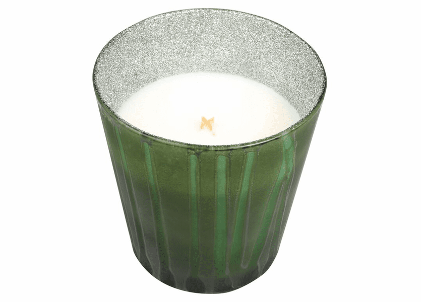 _DISCONTINUED - *Tree Trimmings Glitter Glass Tumbler WoodWick Candle