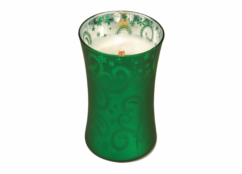 _DISCONTINUED - *Tree Trimmings Large WoodWick Dancing Glass Candle