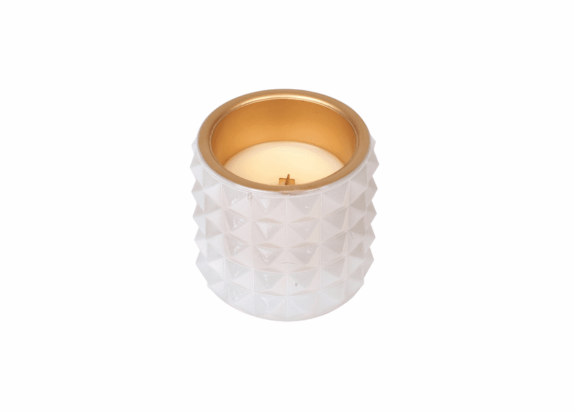 _DISCONTINUED - *Vanilla Bean Studded Glass WoodWick Candle
