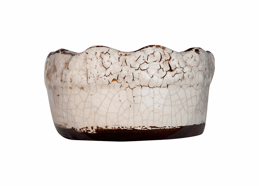_DISCONTINUED - *Vanilla Pound Cake Ruffled Rim Bowl (Color: White)