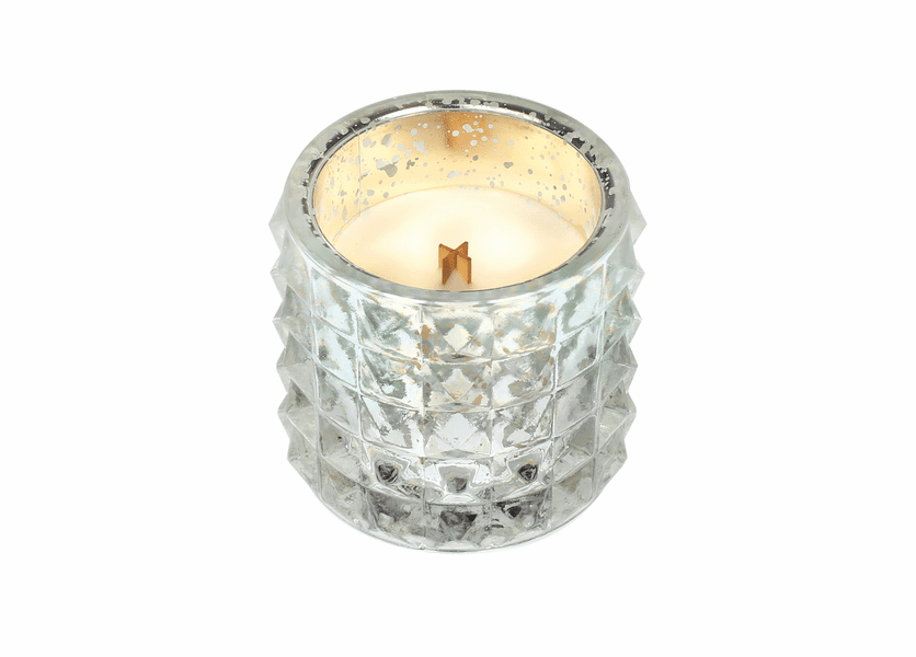 _DISCONTINUED - *Warm Wool Mercury Studded Glass WoodWick Candle