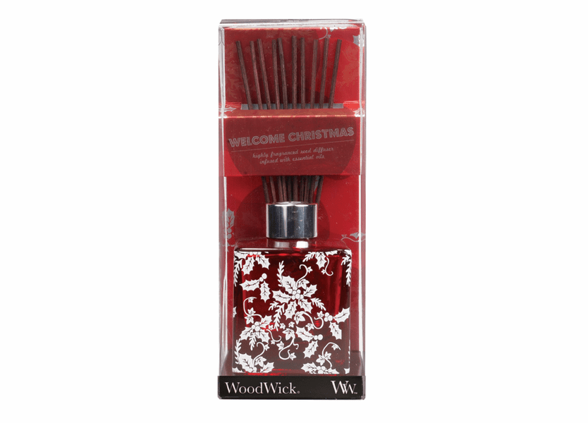 _DISCONTINUED - *Welcome Christmas Dancing Glass WoodWick 5 oz. Reed Diffuser