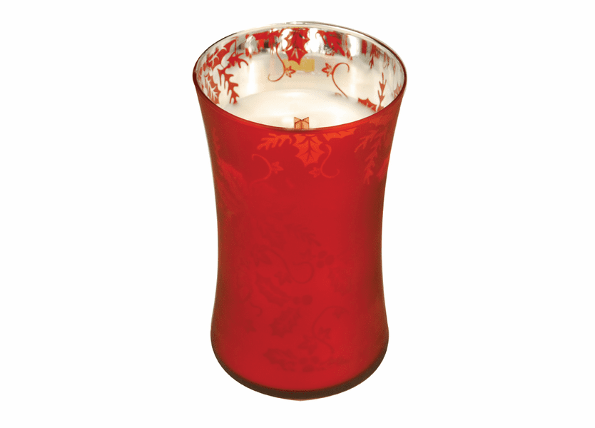 _DISCONTINUED - *Welcome Christmas Large WoodWick Dancing Glass Candle
