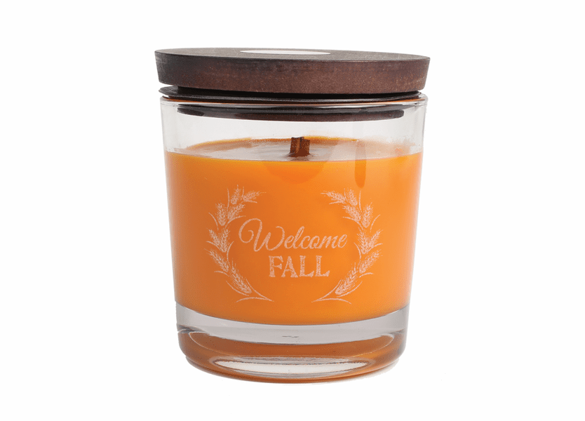 _DISCONTINUED - *Welcome Fall WoodWick Laser Etched Medium Candle
