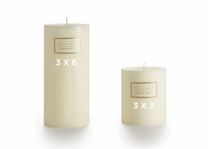 _DISCONTINUED - *Winter White 3 x 6 Round Pillar Illume Candle