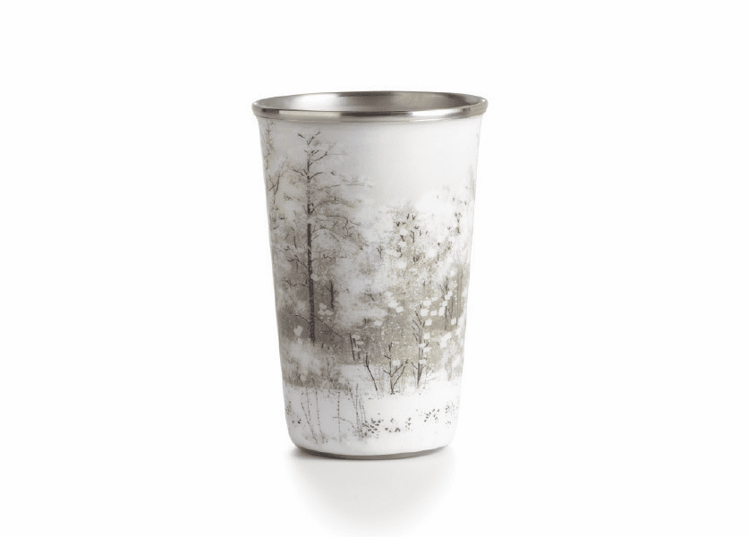 _DISCONTINUED - *Winter White Enameled Tumbler Illume Candle