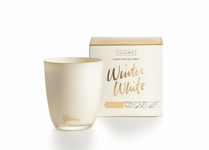 _DISCONTINUED - *Winter White Large Boxed Glass Illume Candle