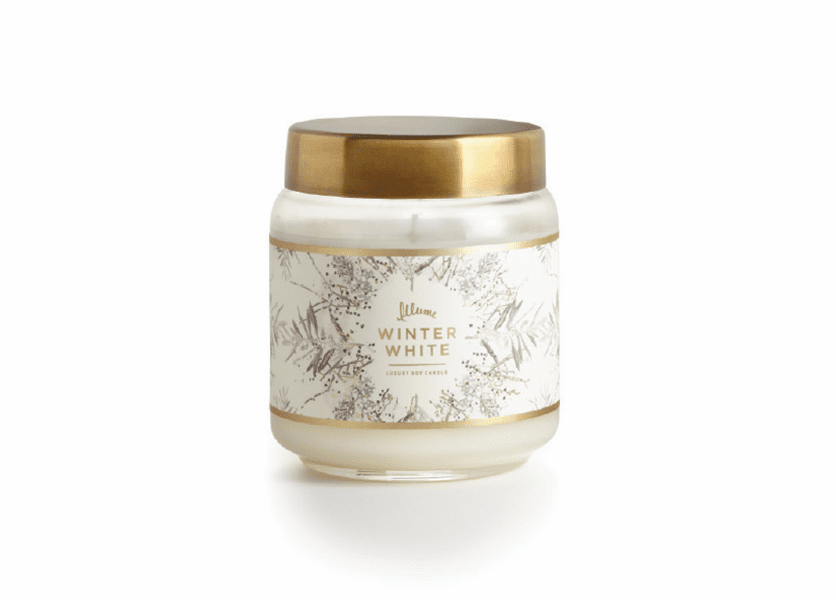 _DISCONTINUED - *Winter White Lidded Jar Illume Candle