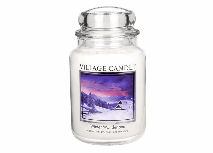 _DISCONTINUED - *Winter Wonderland 26 oz. Premium Round by Village Candles