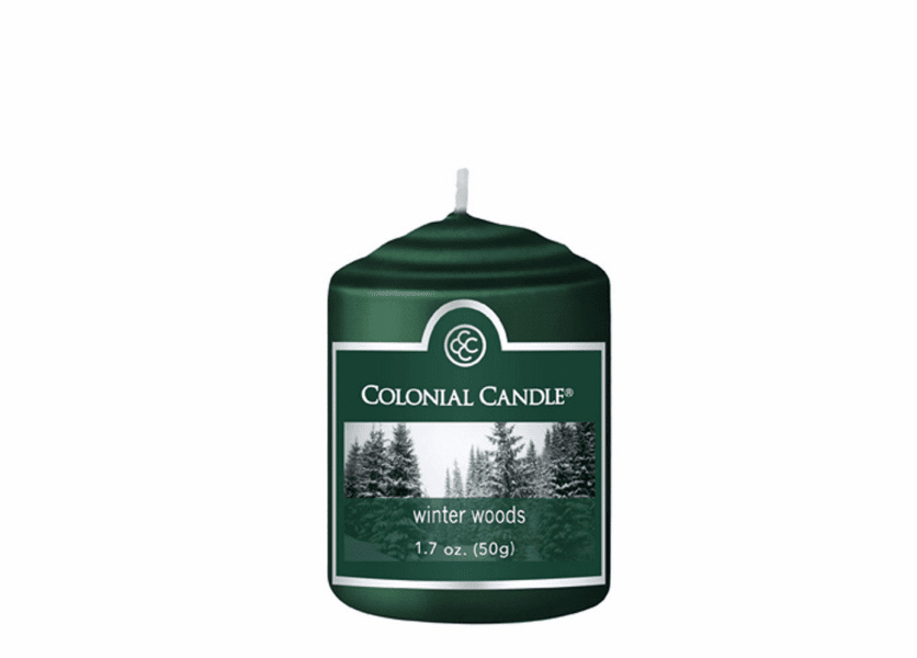 _DISCONTINUED_Winter Woods 1.7 oz. Votive Colonial Candle