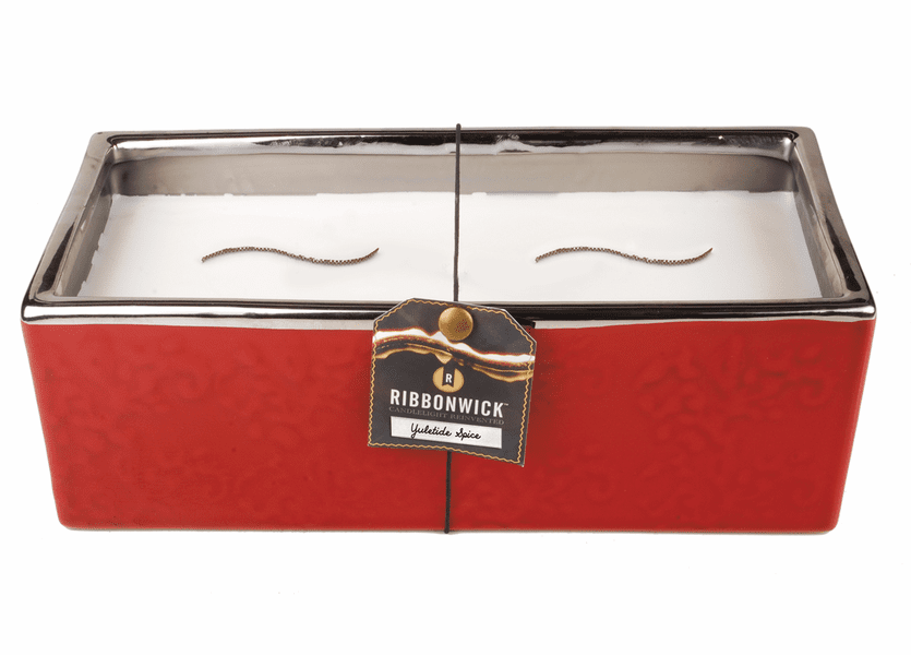 _DISCONTINUED - *Yuletide Spice Large Rectangle RibbonWick Candle