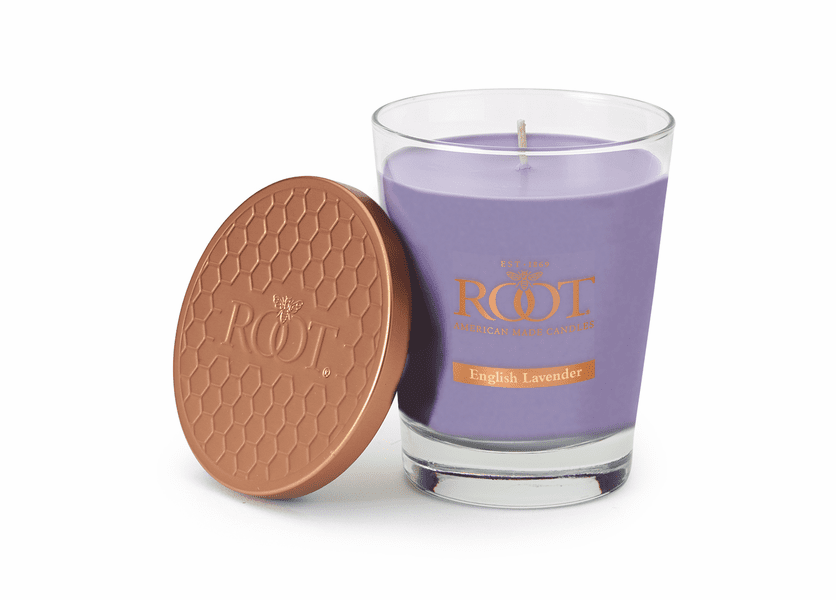 English Lavender Large Honeycomb Veriglass Candle by Root