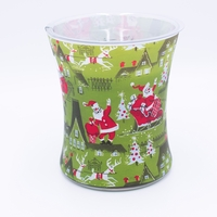 NEW! - Evergreen Decal Glass WoodWick Candle