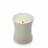 CLOSEOUT - Fireside Ceramic Mini Hourglass WoodWick Candle