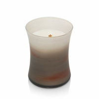 CLOSEOUT - Fireside Painted Medium Hourglass WoodWick Candle