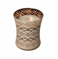 NEW! - Fireside WoodWick Dancing Glass Candle