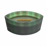 NEW! - Frasier Fir Plaid Ellipse WoodWick Candle with HearthWick Flame