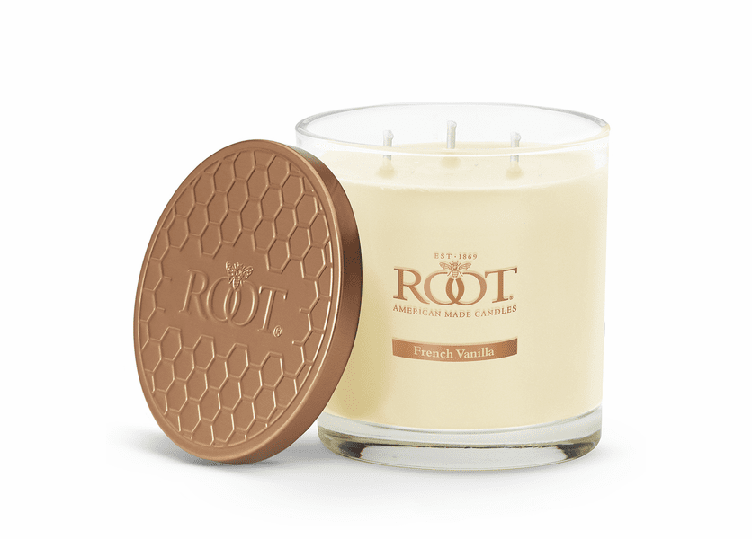 French Vanilla 3-Wick Hive Glass Candle by Root