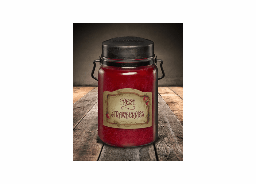 Fresh Strawberries 26 oz. McCall's Classic Jar Candle