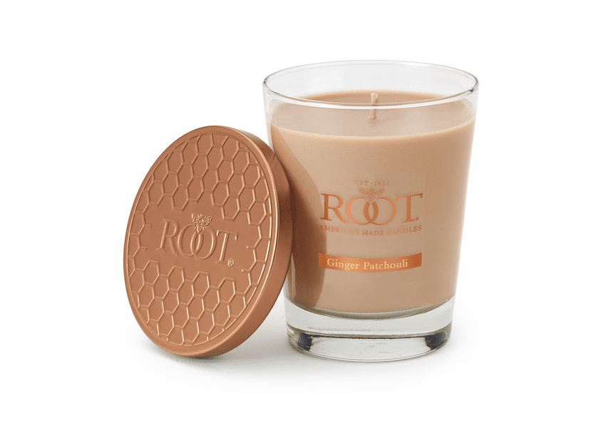 Ginger Patchouli Large Honeycomb Veriglass Candle by Root