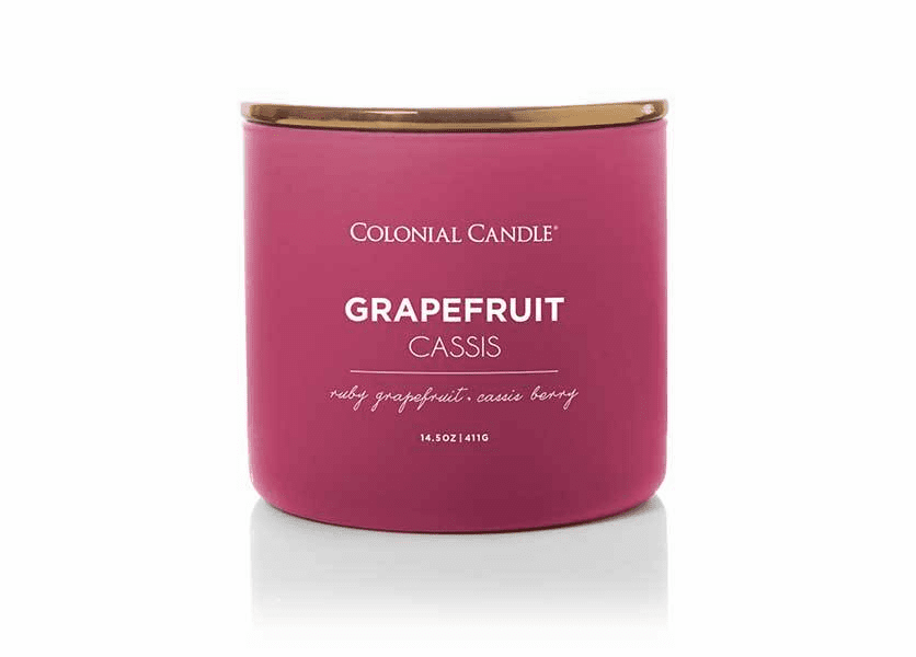 Grapefruit Cassis 14.5 oz. Pop of Color Trend Collection Colonial Candle