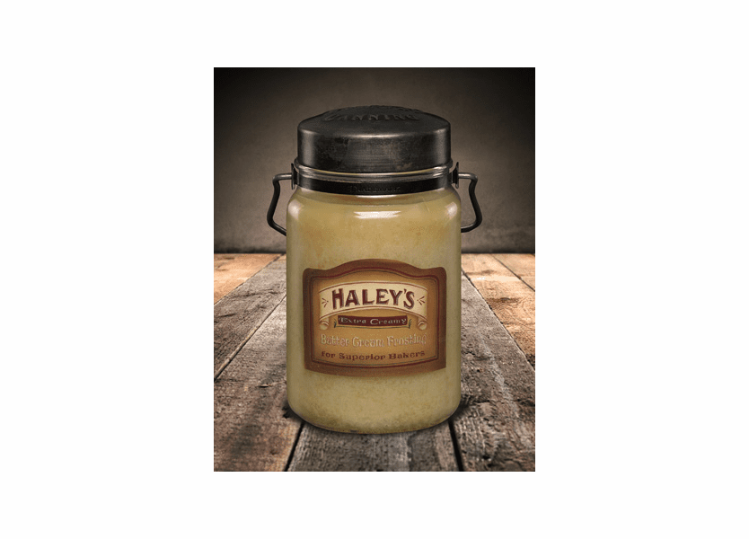 Haley's Butter Frosting 26 oz. McCall's Classic Jar Candle