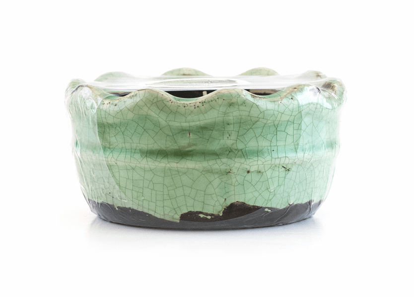 Hazelnut Swan Creek Ruffled Edge Bowl (Color: Teal)