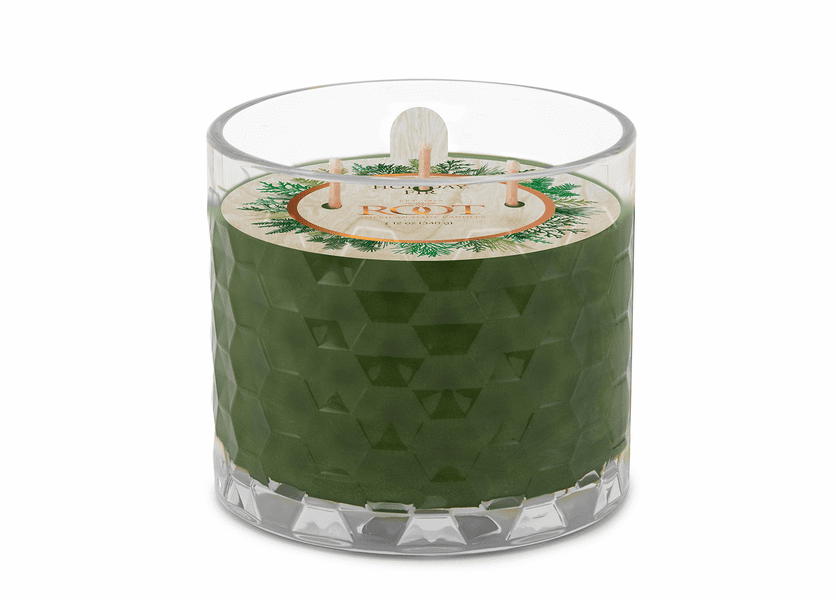 Holiday Fir 3-Wick Honeycomb Holiday Glass Candle by Root