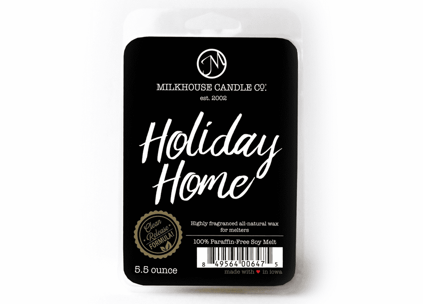 Holiday Home 5.5 oz. Fragrance Melt by Milkhouse Candle Creamery