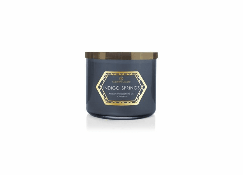 Indigo Springs 14.5 oz. Luxe Trend Collection Colonial Candle